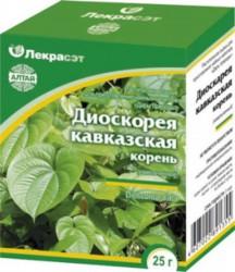 Диоскорея кавказская 25 г по цене от 93,00 рублей, купить в аптеках Сочи