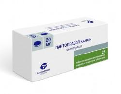 Пантопразол Канон по цене от 205,00 рублей, купить в аптеках Сочи, табл. п/о кишечнораств. пленочной 20 мг №28 Пантопразол